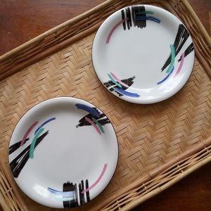 Vintage 90s Dinning Plates